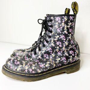 Doc Martens floral combat boots